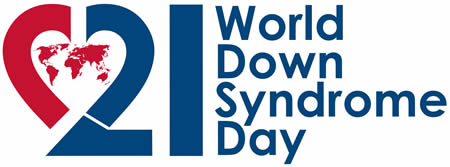 Welt Down Syndrom Tag Logo